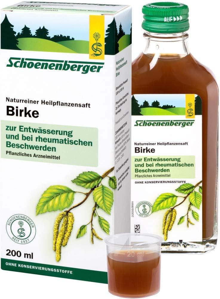 Schoenenberger Bio Naturreiner Heilpflanzensaft Birke (6 x 200 ml)